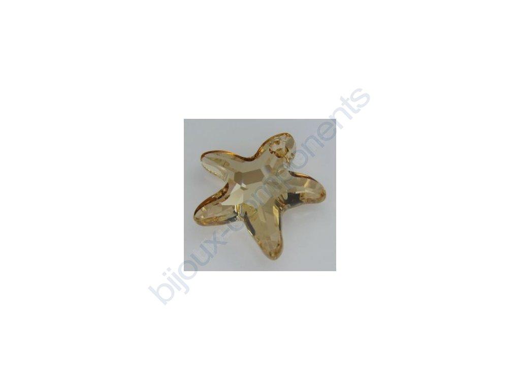 SWAROVSKI ELEMENTS přívěsek - mořská hvězda, crystal golden shadow, 20mm