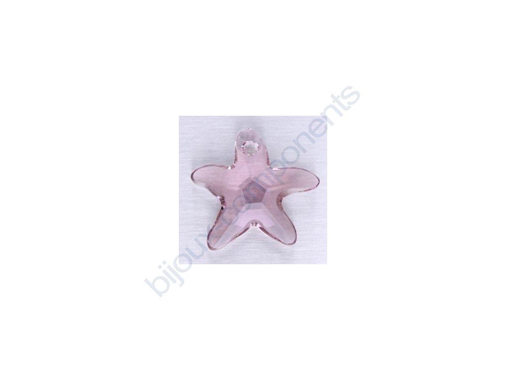 SWAROVSKI ELEMENTS přívěsek - mořská hvězda, light amethyst, 20mm