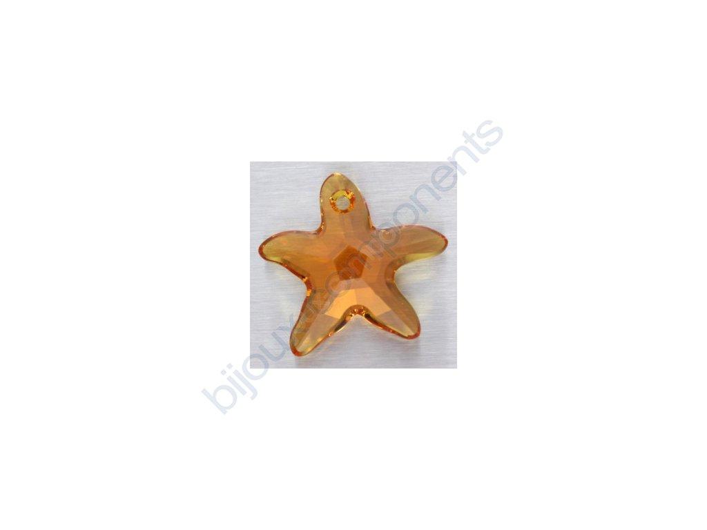 SWAROVSKI ELEMENTS přívěsek - mořská hvězda, topaz, 20mm