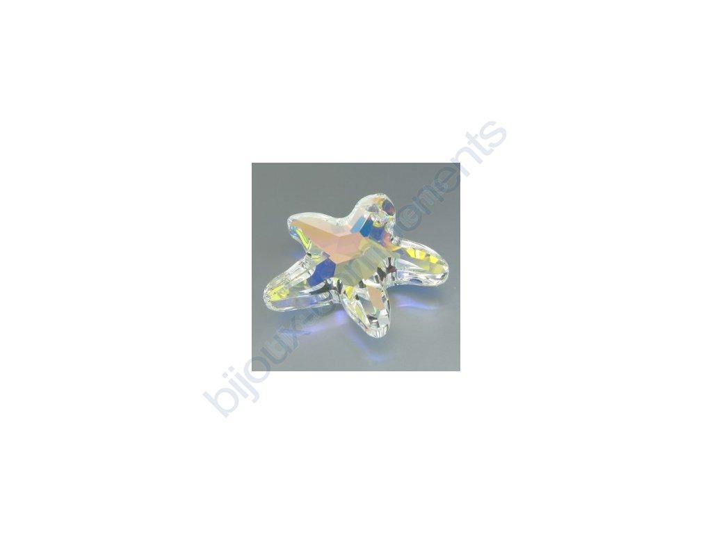 SWAROVSKI ELEMENTS přívěsek - mořská hvězda, crystal AB, 28mm