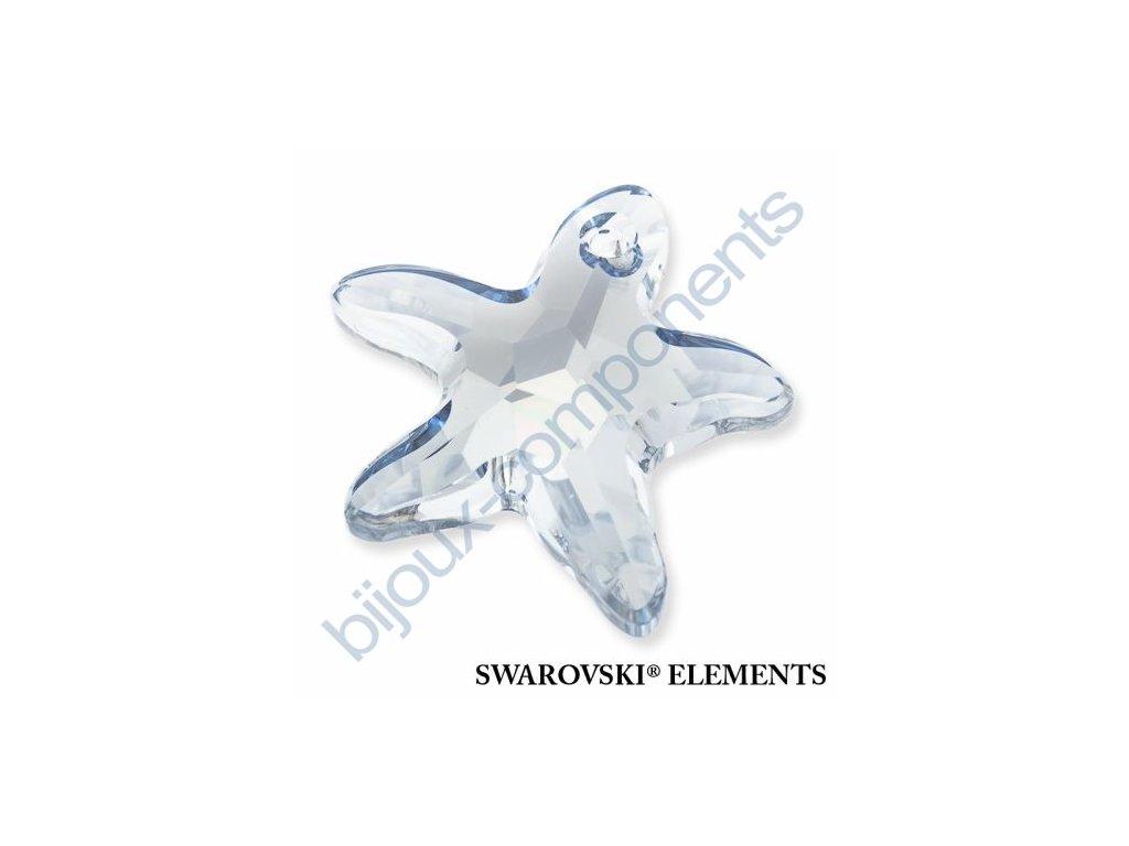 SWAROVSKI ELEMENTS přívěsek - mořská hvězda, crystal blue shade, 28mm