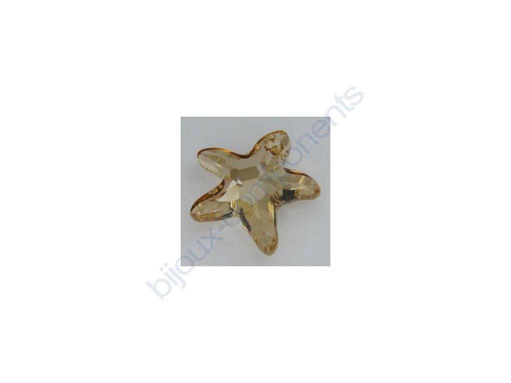 SWAROVSKI ELEMENTS přívěsek - mořská hvězda, crystal golden shadow, 28mm