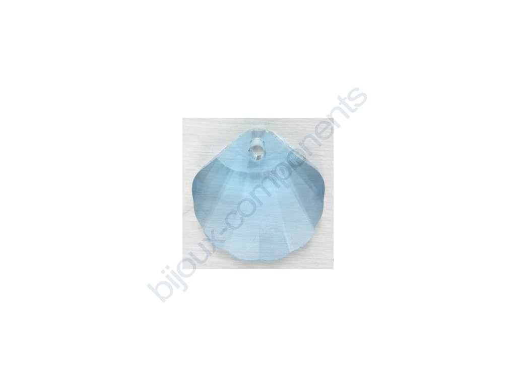SWAROVSKI ELEMENTS přívěsek - Mušle, aquamarine, 16mm