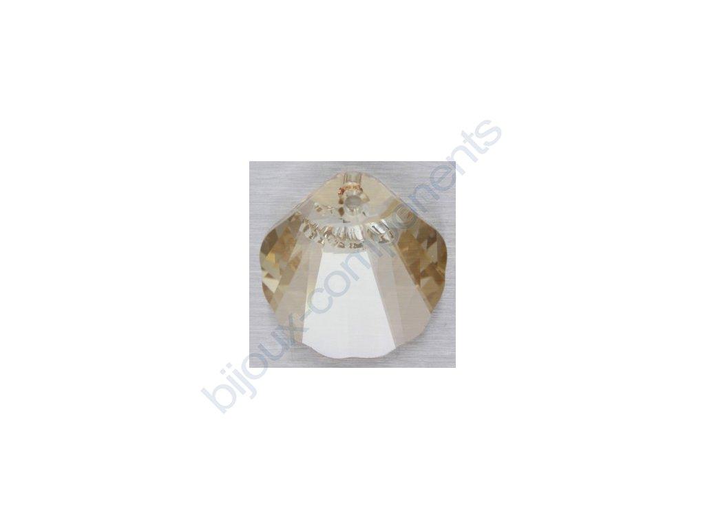 SWAROVSKI ELEMENTS přívěsek - Mušle, crystal golden shadow, 16mm