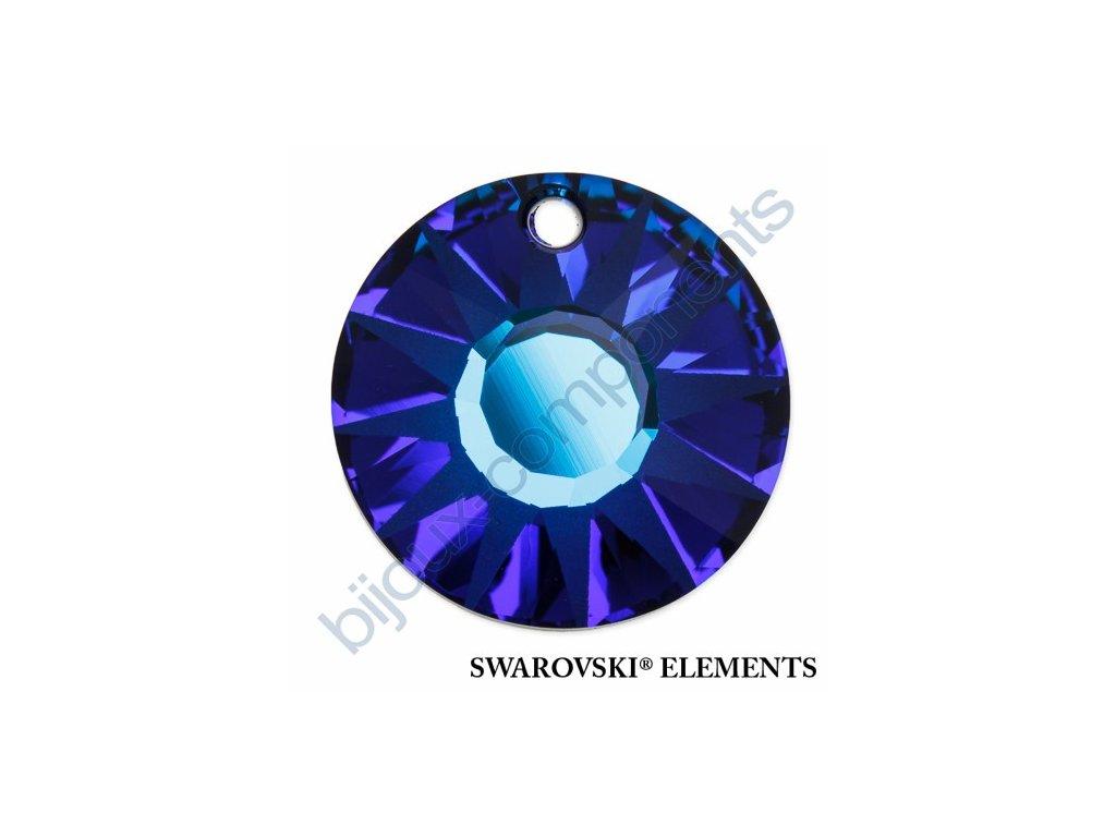 SWAROVSKI ELEMENTS přívěsek - Sun, crystal bermuda blue P, 19mm