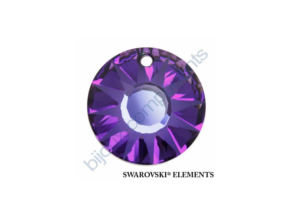 SWAROVSKI ELEMENTS přívěsek - Sun, crystal helio P, 33mm