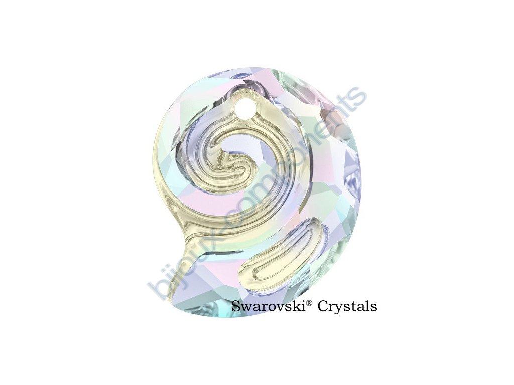 SWAROVSKI CRYSTALS přívěsek - Sea Snail, crystal AB, 14mm
