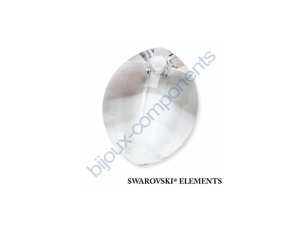 SWAROVSKI ELEMENTS přívěsek - pure leaf, crystal, 14mm