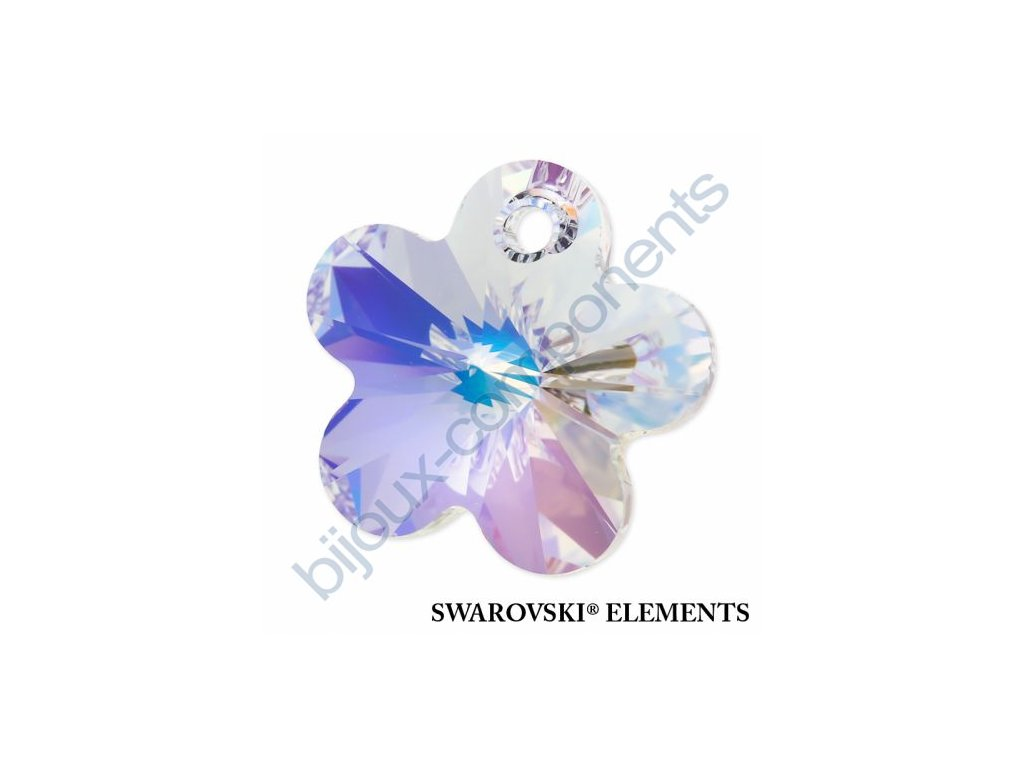 SWAROVSKI ELEMENTS přívěsek - kytička, crystal AB, 12mm