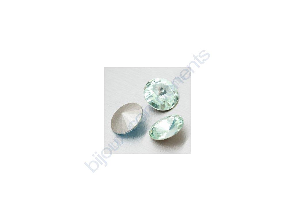 SWAROVSKI ELEMENTS kameny - Rivoli Chaton, chrysolite, 12mm