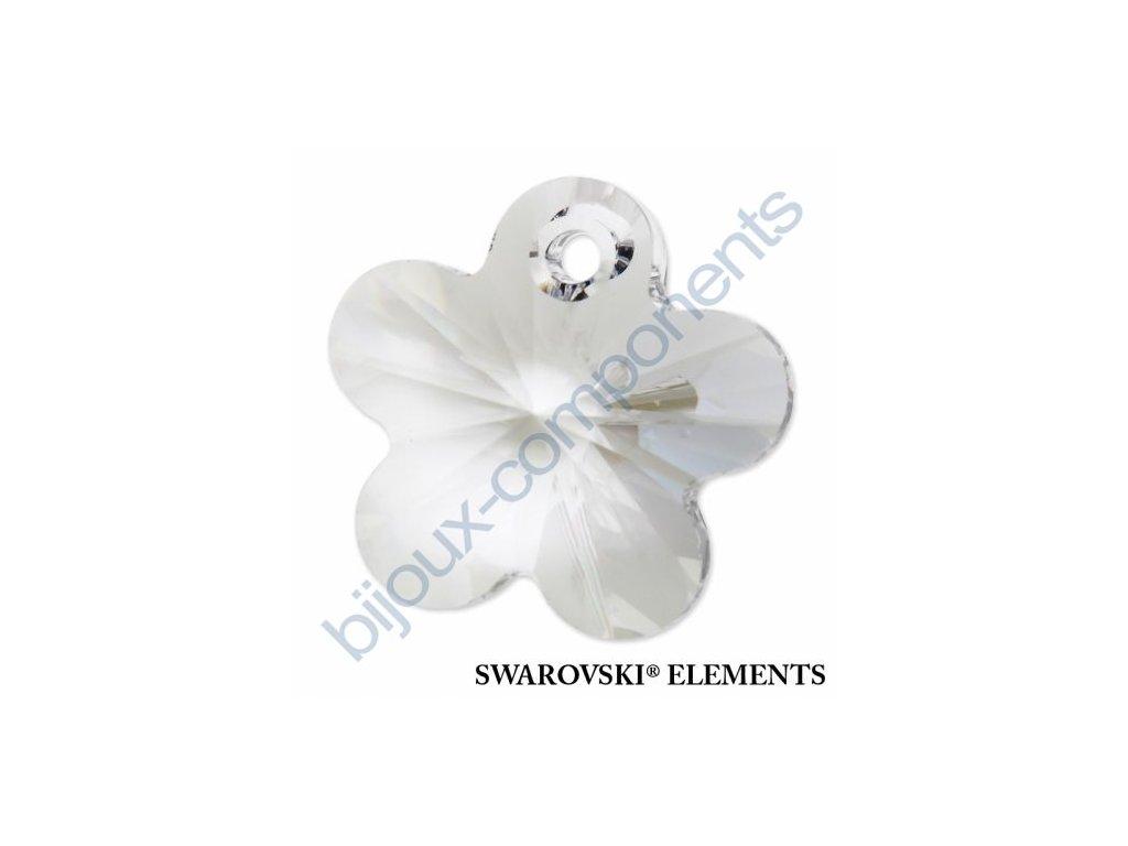 SWAROVSKI ELEMENTS přívěsek - kytička, crystal, 14mm