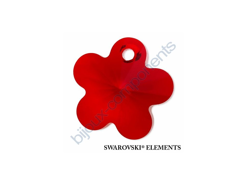 SWAROVSKI ELEMENTS přívěsek - kytička, light siam, 14mm