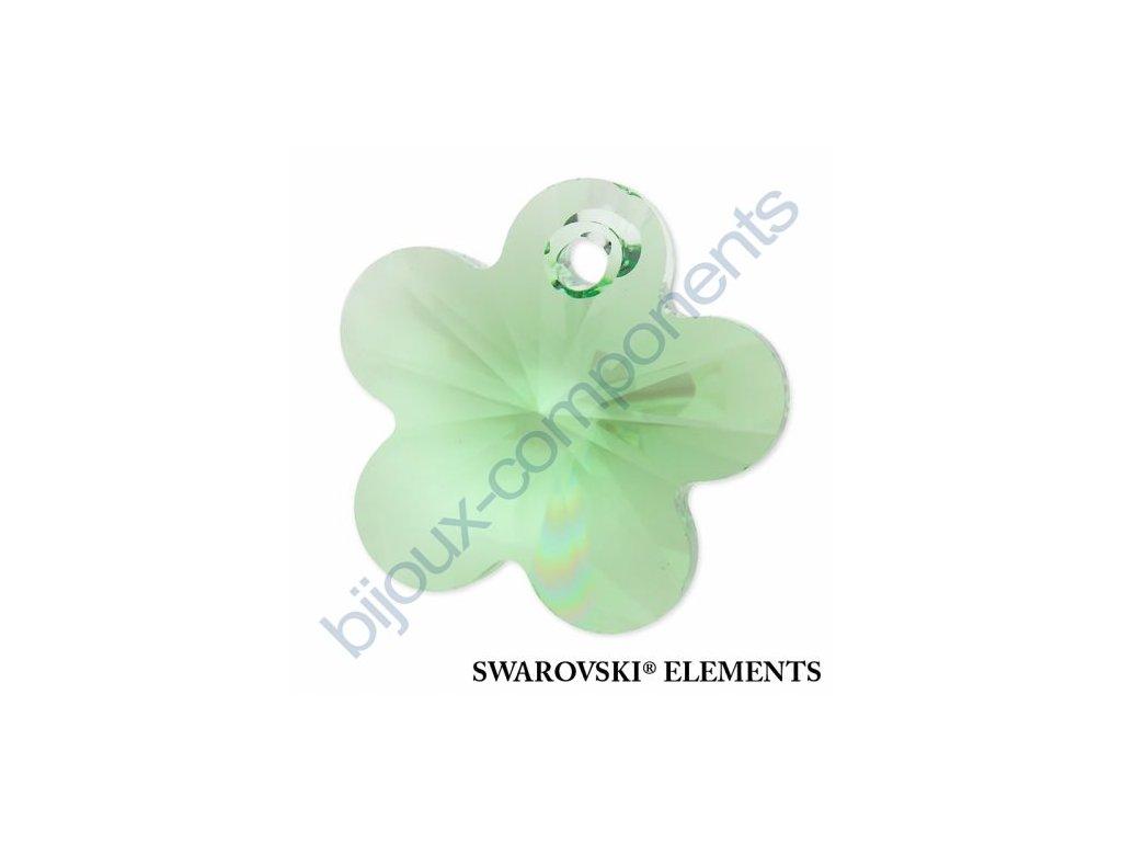SWAROVSKI ELEMENTS přívěsek - kytička, peridot, 14mm