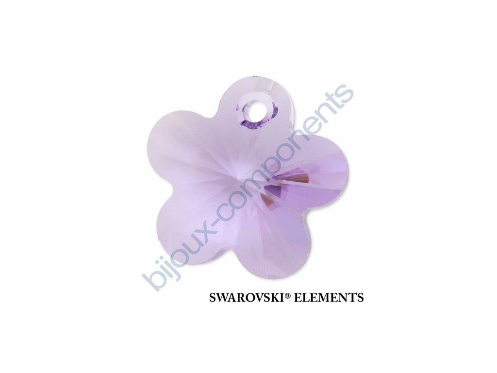 SWAROVSKI ELEMENTS přívěsek - kytička, violet, 14mm
