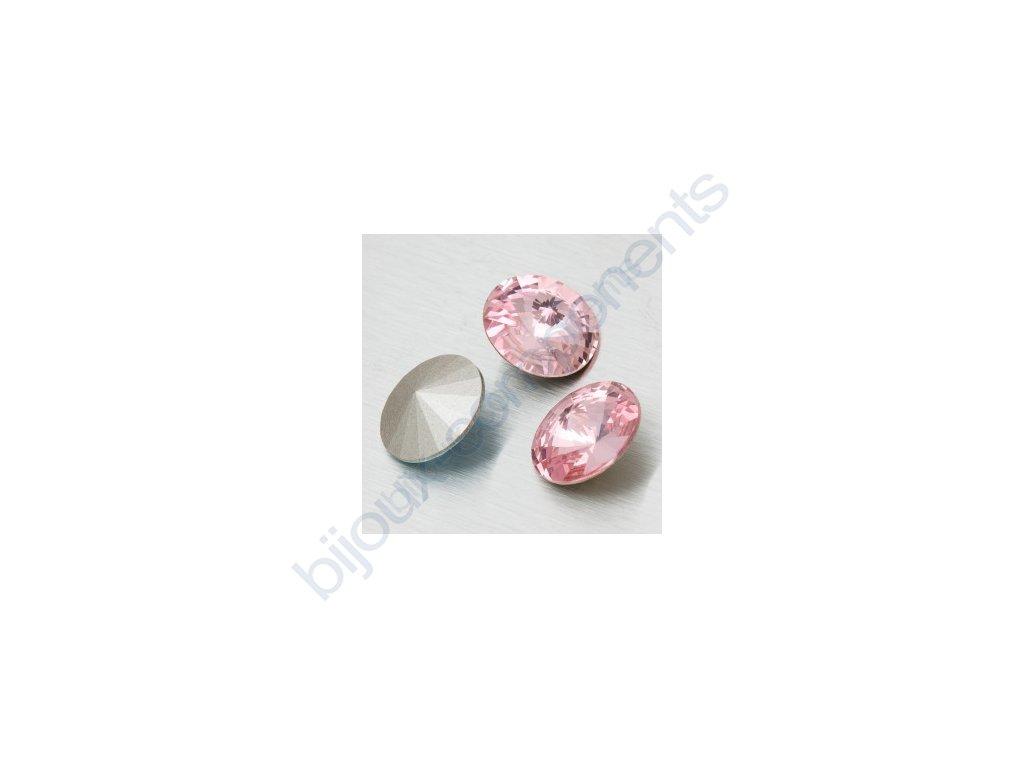 SWAROVSKI ELEMENTS kameny - Rivoli Chaton, light rose, 12mm