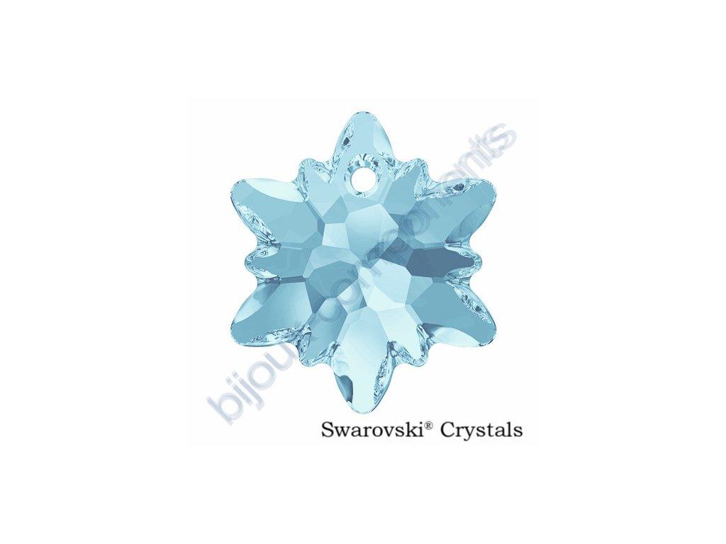 SWAROVSKI CRYSTALS přívěsek - Edelweiss, aquamarine, 18mm