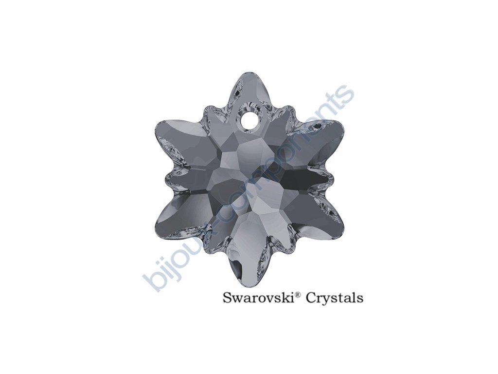 SWAROVSKI CRYSTALS přívěsek - Edelweiss, crystal silver night, 18mm