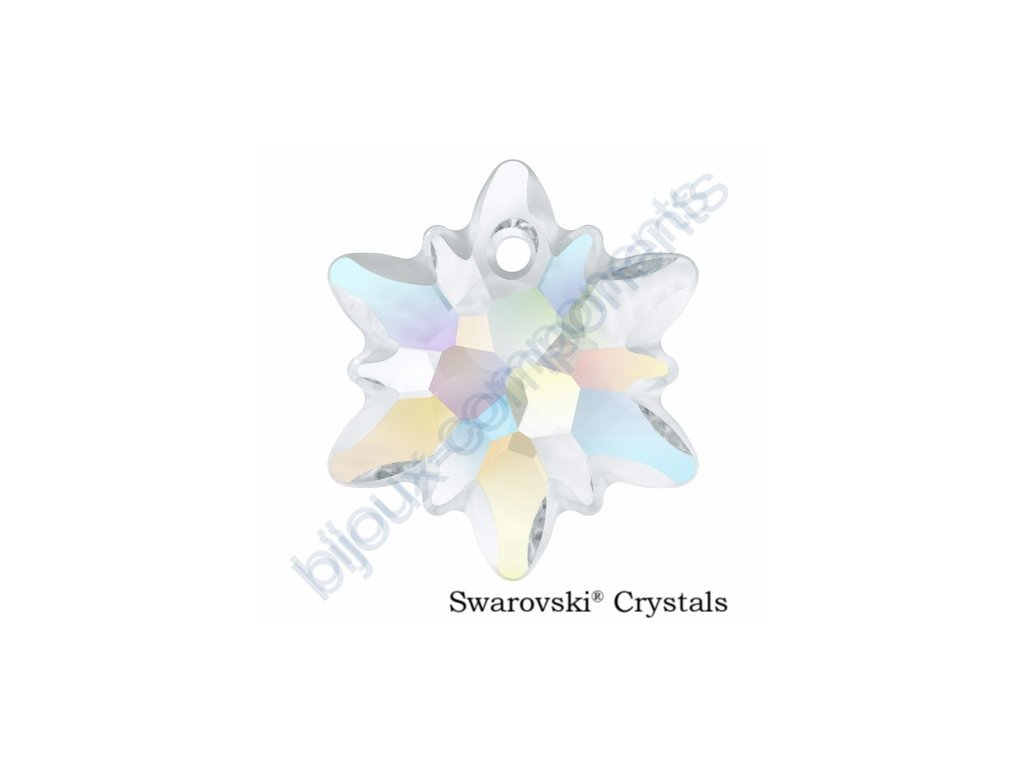 SWAROVSKI CRYSTALS přívěsek - Edelweiss, crystal AB, 14mm