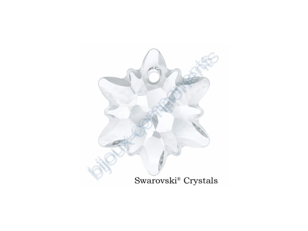 SWAROVSKI CRYSTALS přívěsek - Edelweiss, crystal - 14mm