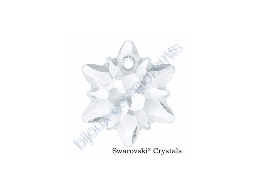 SWAROVSKI CRYSTALS přívěsek - Edelweiss, crystal - matovaný okraj, 18mm