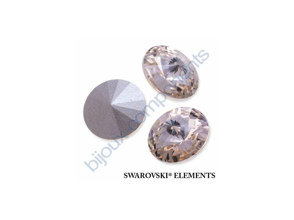 SWAROVSKI ELEMENTS kameny - Rivoli Chaton, light silk, 12mm