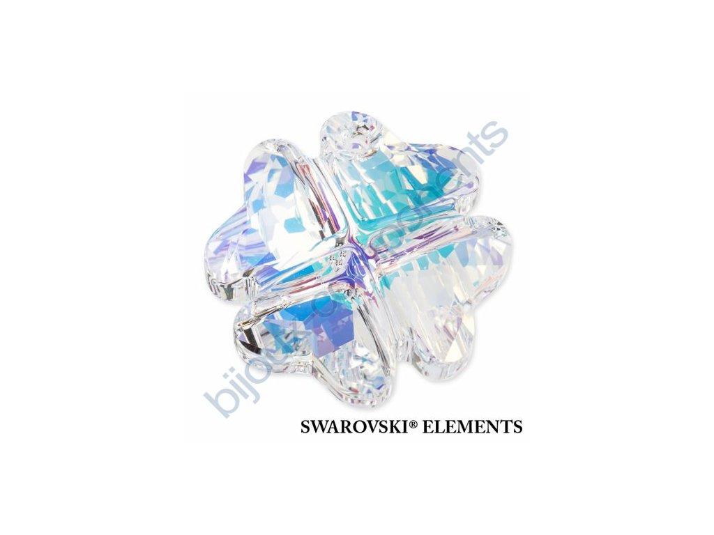 SWAROVSKI ELEMENTS přívěsek - Čtyřlístek, crystal AB, 28mm