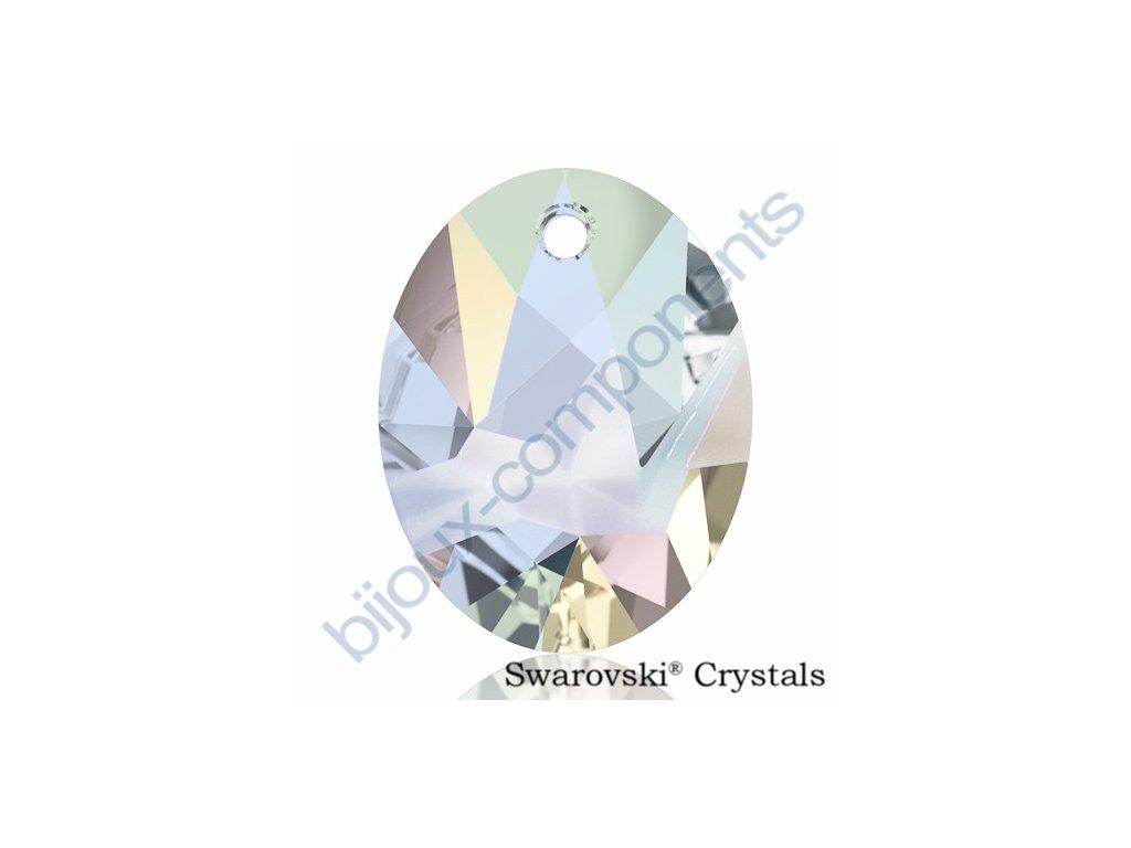 SWAROVSKI CRYSTALS přívěsek - Kaputt Oval, crystal AB, 26mm