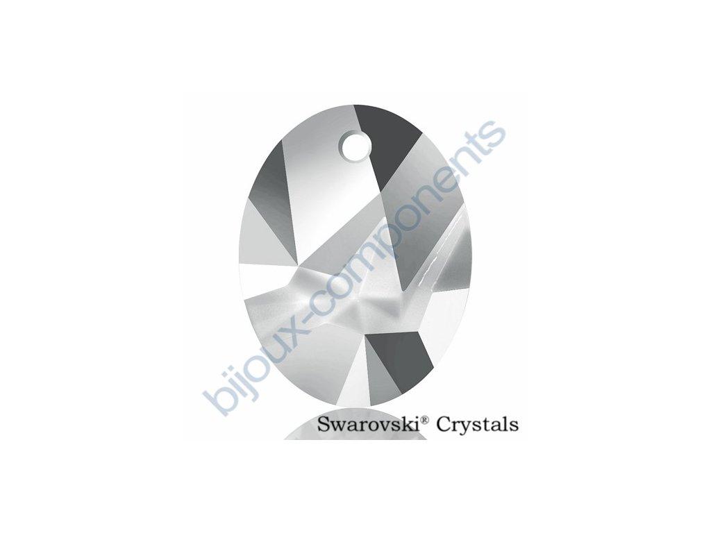 SWAROVSKI CRYSTALS přívěsek - Kaputt Oval, crystal light chrome, 26mm