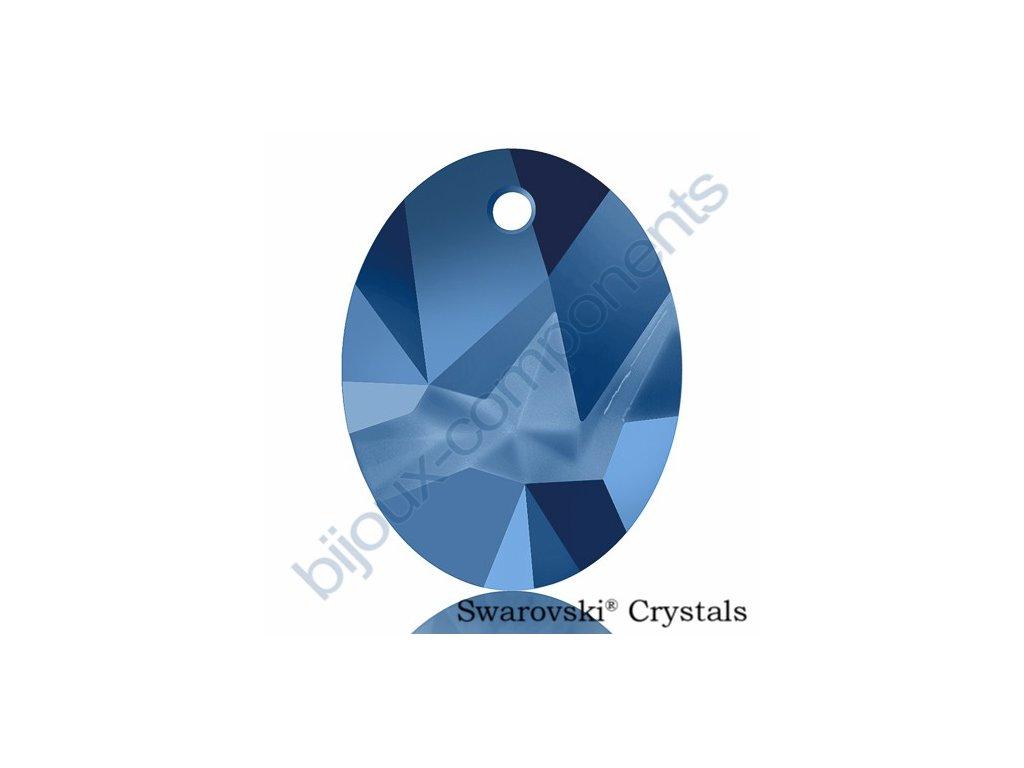 SWAROVSKI CRYSTALS přívěsek - Kaputt Oval, crystal metallic blue, 26mm