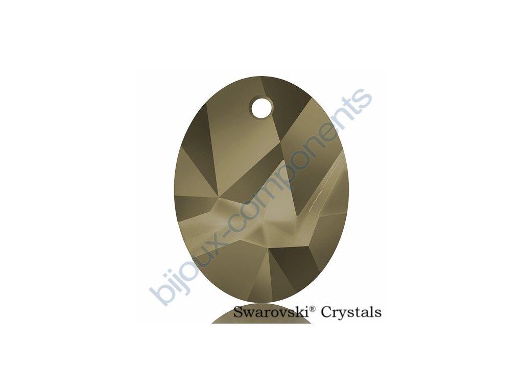 SWAROVSKI CRYSTALS přívěsek - Kaputt Oval, crystal metallic light gold, 26mm