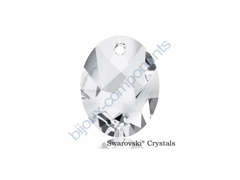SWAROVSKI CRYSTALS přívěsek - Kaputt Oval, crystal, 26mm