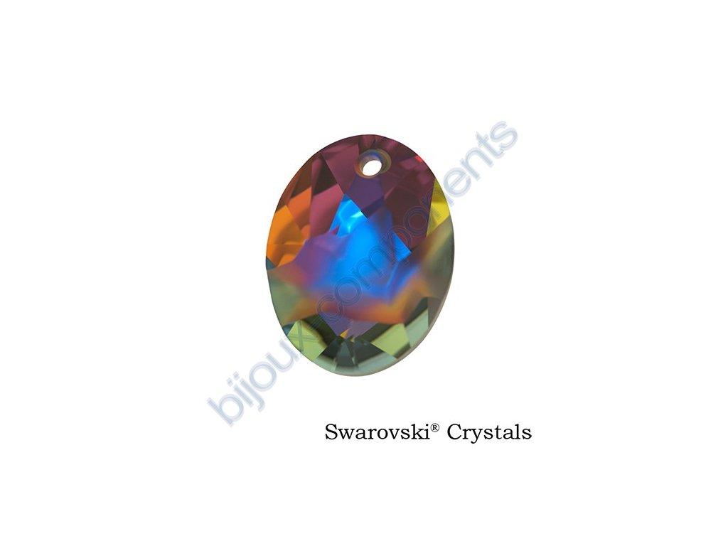 SWAROVSKI CRYSTALS přívěsek - Kaputt Oval, crystal volcano, 26mm