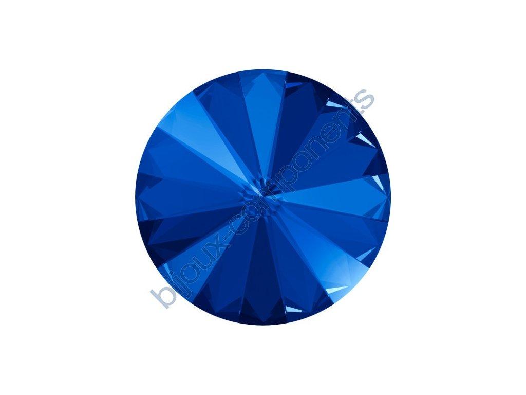 SWAROVSKI CRYSTALS kameny - Rivoli Chaton, majestic blue F, 12mm