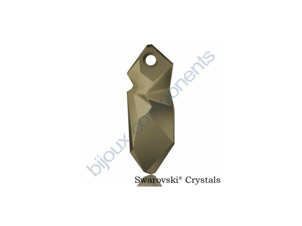 SWAROVSKI CRYSTALS přívěsek - Kaputt, crystal metallic light gold, 28mm
