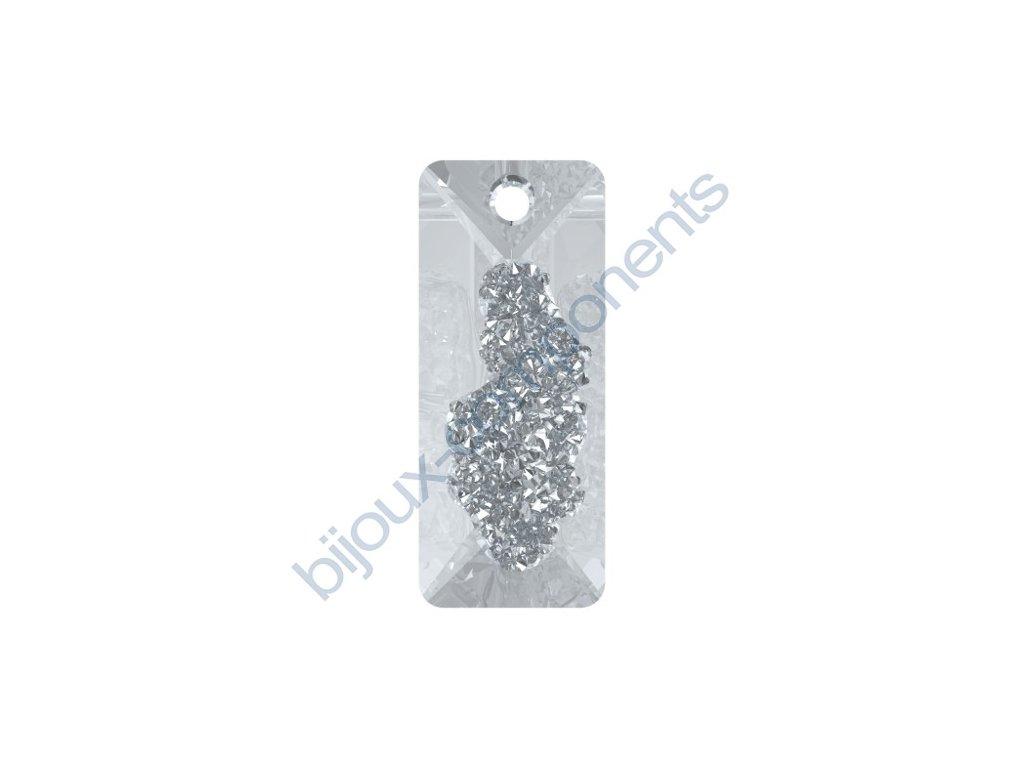 SWAROVSKI CRYSTALS přívěsek - Growing Crystal Rectangle, crystal, 26mm