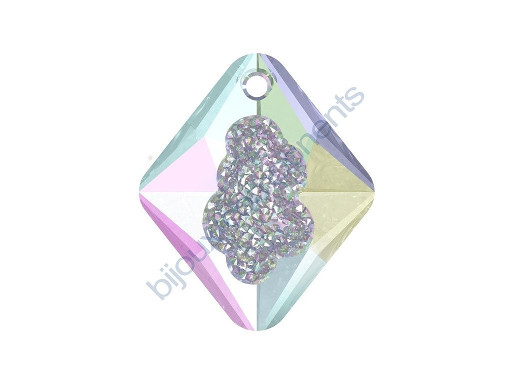 SWAROVSKI CRYSTALS přívěsek - Growing Crystal Rhombus, crystal AB, 26mm