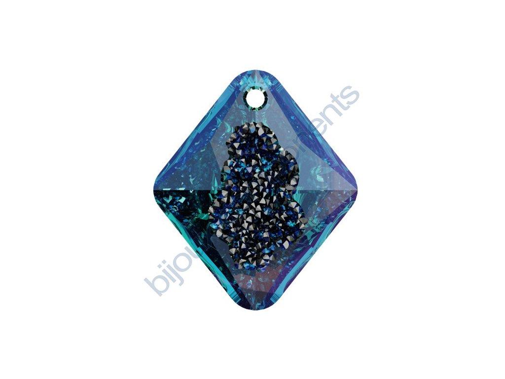 SWAROVSKI CRYSTALS přívěsek - Growing Crystal Rhombus, crystal bermuda blue, 26mm