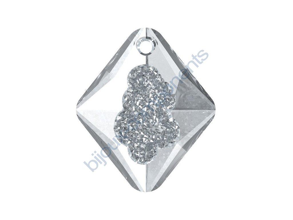 SWAROVSKI CRYSTALS přívěsek - Growing Crystal Rhombus, crystal, 26mm