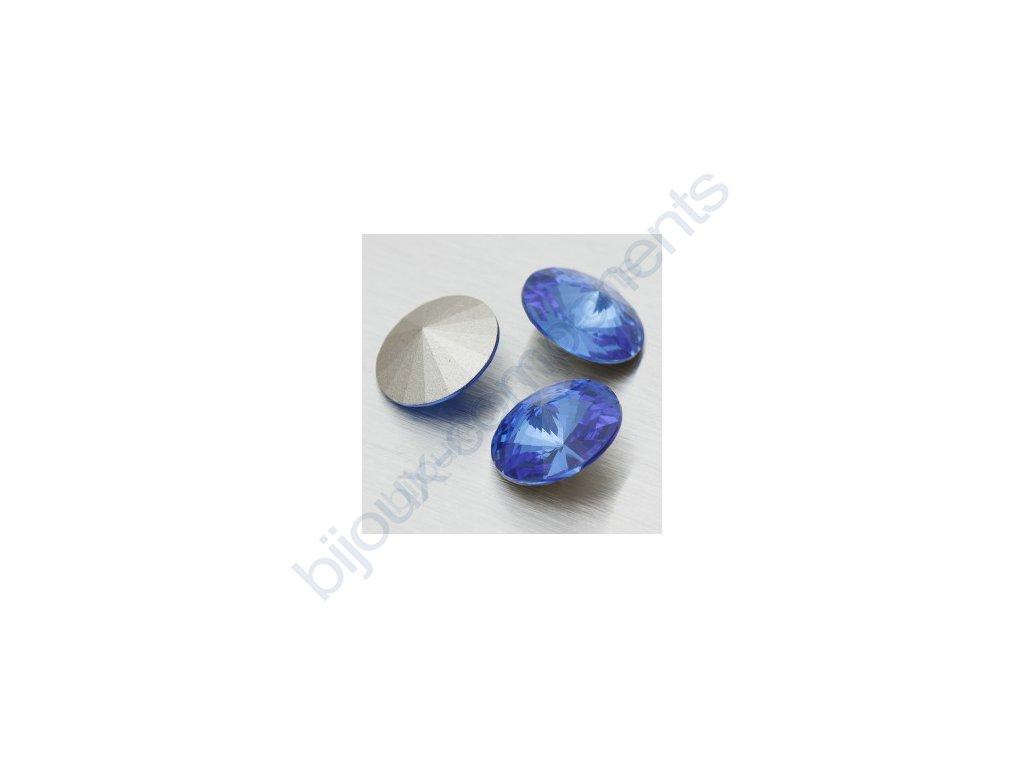 SWAROVSKI ELEMENTS kameny - Rivoli Chaton, sapphire, 12mm