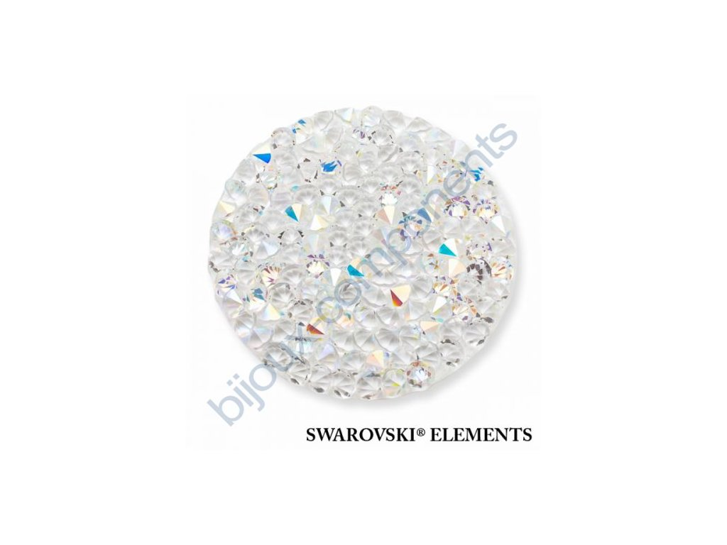 SWAROVSKI ELEMENTS - Crystal rocks, transparentní, crystal AB, 30mm