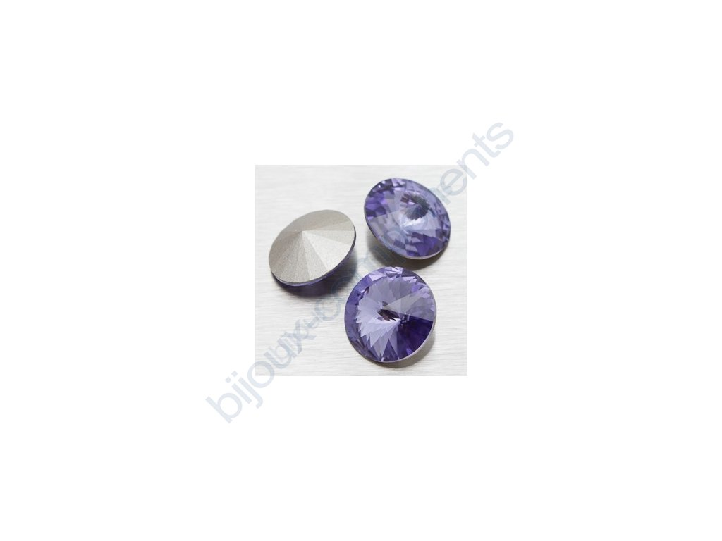 SWAROVSKI ELEMENTS kameny - Rivoli Chaton, tanzanite, 12mm