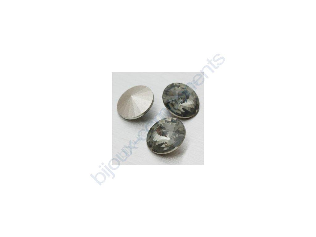 SWAROVSKI ELEMENTS kameny - Rivoli Chaton, black diamond, 14mm