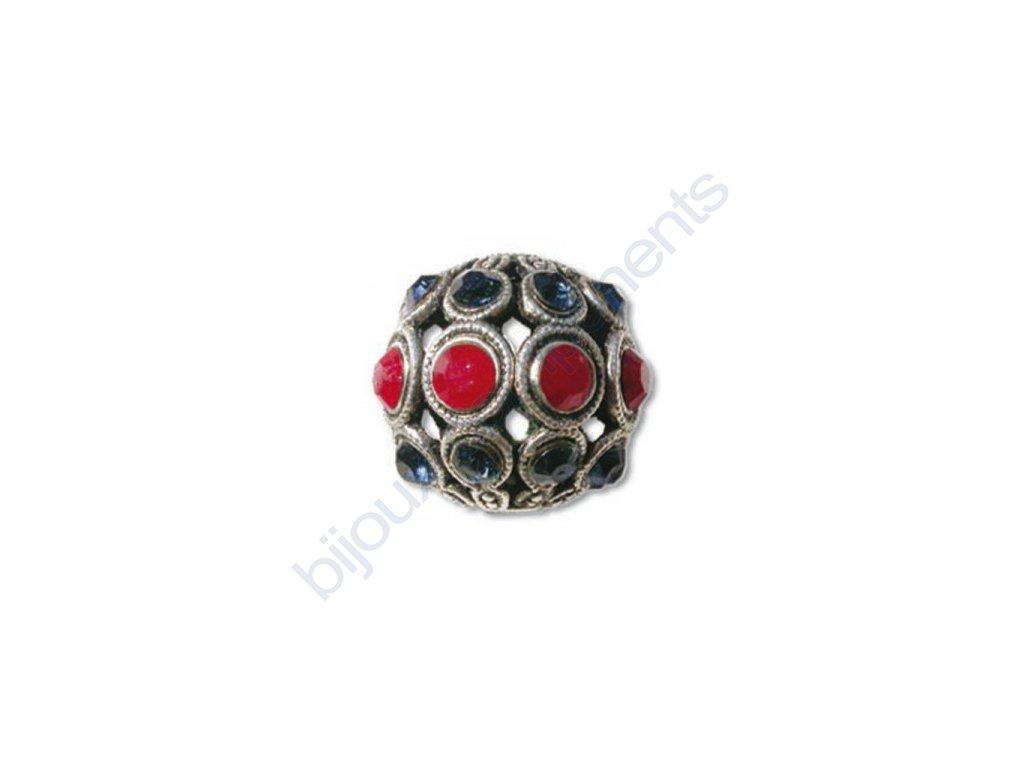 Šatonové kuličky s kameny SWAROVSKI ELEMENTS, cca 13mm