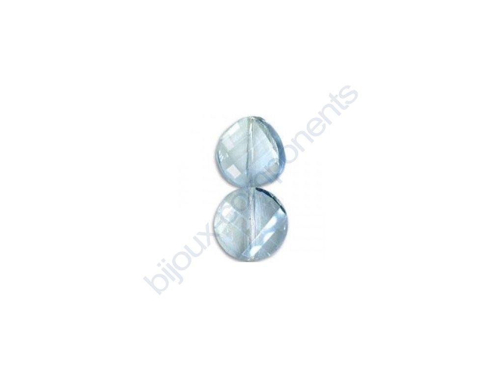 Broušené korálky - twist, crystal
