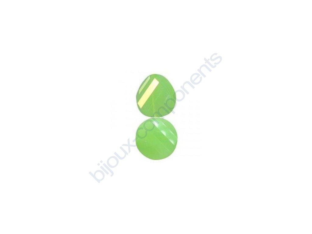 Broušené korálky - twist, jade opal