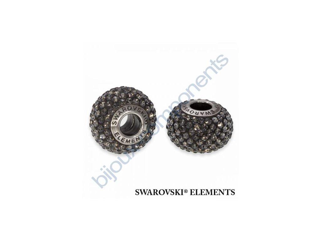 SWAROVSKI ELEMENTS BeCharmed Pavé s xilion šatony - black/crystal silver night steel, 14mm