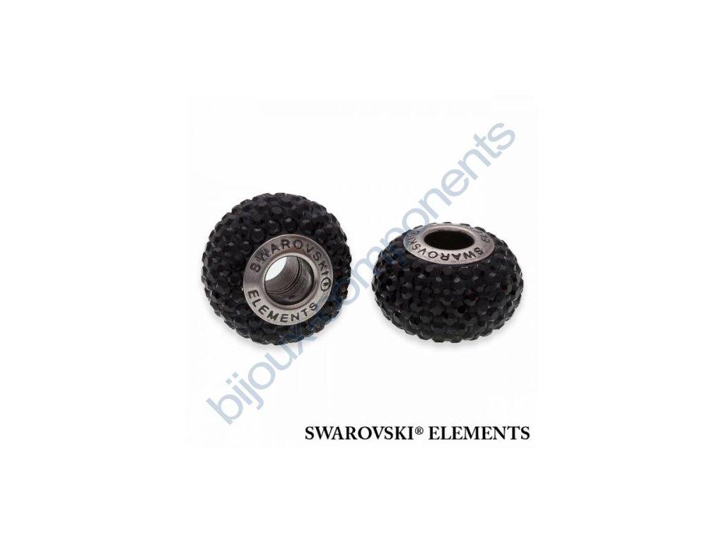 SWAROVSKI ELEMENTS BeCharmed Pavé s xilion šatony - black/jet steel, 14mm