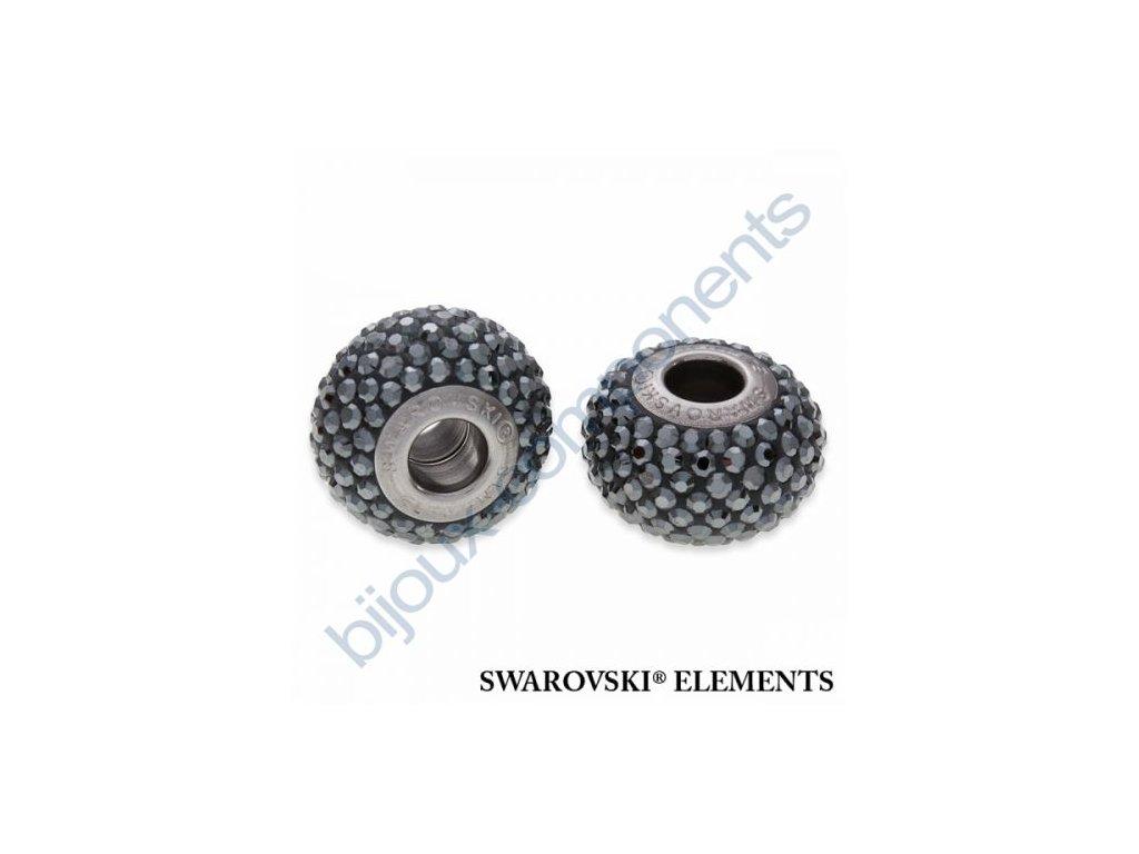 SWAROVSKI ELEMENTS BeCharmed Pavé s xilion šatony - black/jet hematit steel, 14mm
