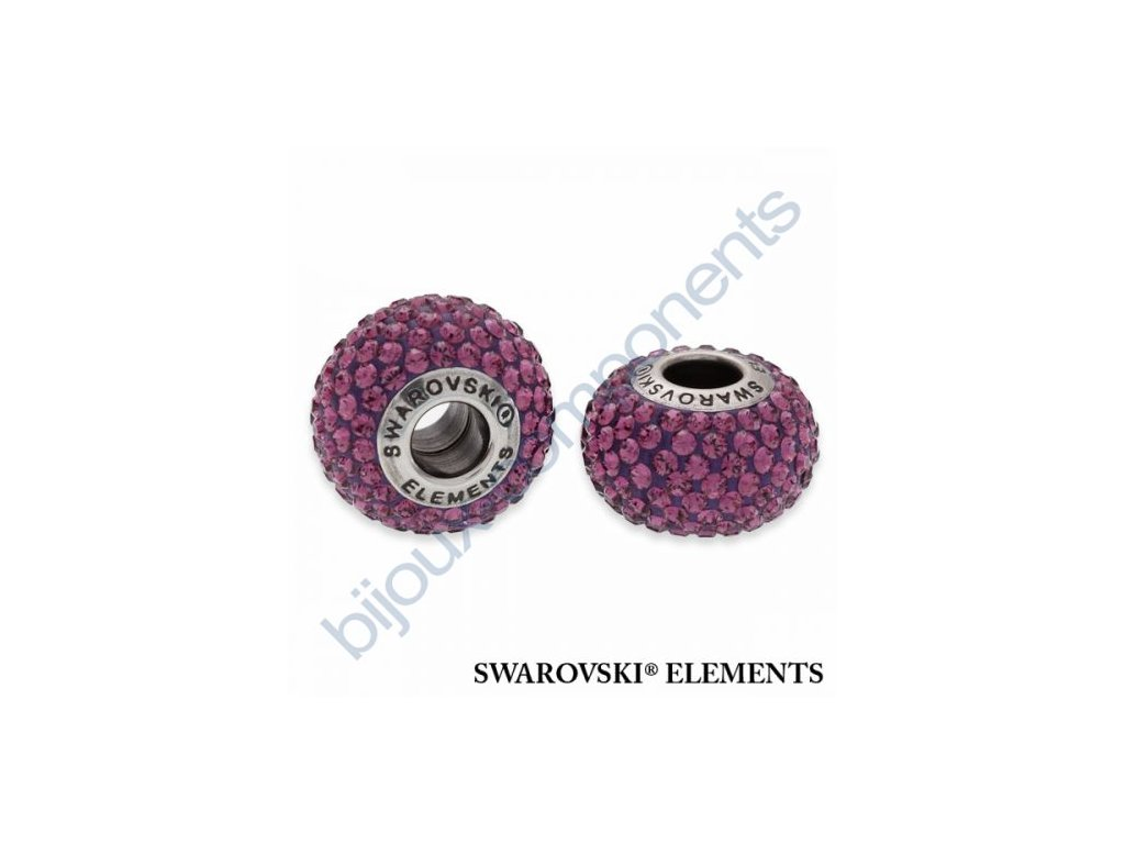 SWAROVSKI ELEMENTS BeCharmed Pavé s xilion šatony - dark lila/amethyst steel, 14mm
