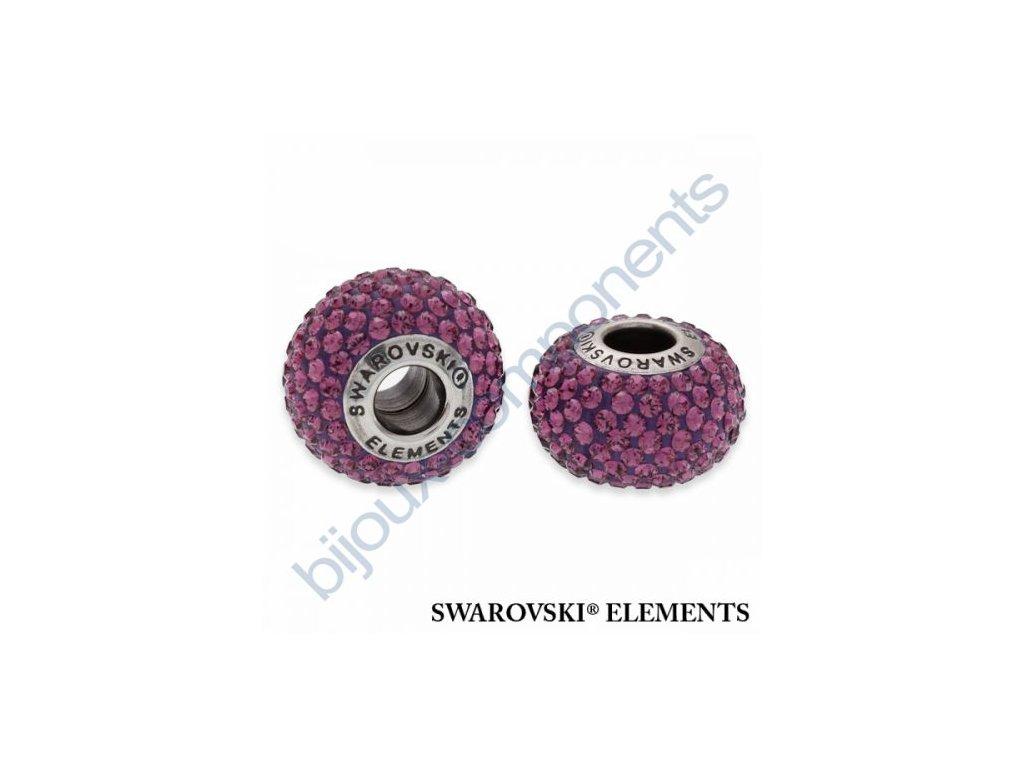 SWAROVSKI ELEMENTS BeCharmed Pavé s xilion šatony - dark lila/amethyst steel, 14mm